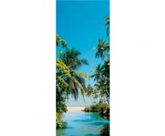 Papermoon Fototapete »Palm Logoon - Türtapete«, matt, (2 St), Vlies, 2 Bahnen, 90 x 200 cm