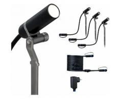 Paulmann LED Gartenstrahler »Outdoor Plug & Shine Starterset Spot Plantini«, 3000K 24V Anthrazit