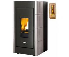 Freepoint Pelletofen »Verve airtight«, 8,6 kW, Zeitbrand, 346 W, 230 V