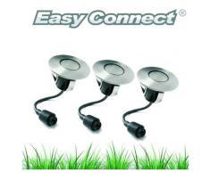 SPOT Light Gartenleuchte »Easy Connect«, Marke: CALI, EASY CONNECT 3 Einbaulichter DECK Ø 6 cm 1,2 W Weiß