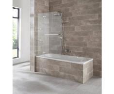 welltime Badewannenaufsatz »Saragossa«, Einscheibensicherheitsglas, (2 tlg), BxH: 100x140cm