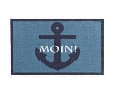 Fußmatte »Moin«, Zala Living, rechteckig, Höhe 7 mm, Schmutzfangmatte, mit Spruch, rutschhemmend beschichtet
