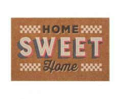 Fußmatte »Home sweet Home bunt«, my home, rechteckig, Höhe 10 mm, Schmutzfangmatte, mit Spruch, In- und Outdoor geeignet, Kokos-Optik