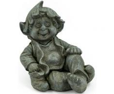 NOOR LIVING Gartenfigur »Gnom sitzend«, (1 St)