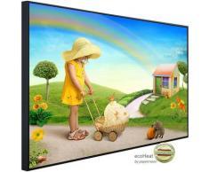 Papermoon Infrarotheizung »Kind mit Kinderwagen«, sehr angenehme Strahlungswärme