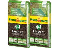Floragard Pflanzendünger »4 in 1 Rasenfit«, 2-St., je 20 l