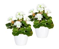 Künstliche Zimmerpflanze »Havel« Geranie, DELAVITA, Höhe 24 cm, im Keramiktopf, 2er Set