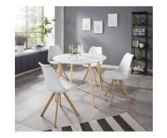 INOSIGN Essgruppe »Levent«, (Set, 5-tlg), bestehend aus 4 Lazio Stühlen und dem Cody Tisch