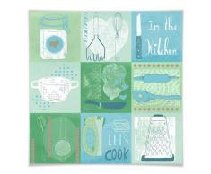 Wall-Art Poster »Kachel Küche Farmhaus Deko Blau«, Küche (1 Stück), Poster, Wandbild, Bild, Wandposter