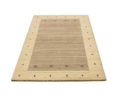 Wollteppich »Loribaft Teppich handgeknüpft braun«, morgenland, rechteckig, Höhe 18 mm, handgeknüpft