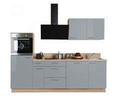 Express Küchen Küchenzeile »Scafa«, ohne E-Geräte, vormontiert, mit Vollauszügen und Soft-Close-Funktion, Breite 260 cm