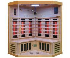 Dewello Infrarotkabine »Brandon«, BxTxH: 140 x 140 x 190 cm, 50 mm, für bis zu 3 Personen