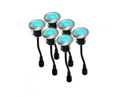 SPOT Light Gartenleuchte »Easy Connect«, Marke: CALI, EASY CONNECT 6 Einbaulichter DECK Ø 4,5 cm 0,8 W Blau