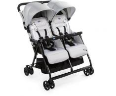 Chicco Zwillingsbuggy »OHlalà Twin, Silver Cat«, Zwillingskinderwagen Kinderwagen für Zwillinge Buggy für Zwillinge Zwillingswagen