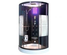 HOME DELUXE Komplettdusche »Dampfdusche Black Pearl«, BxT: 90x90 cm, Sicherheitsglas, 1-tlg., mit LED Beleuchtung und Radio