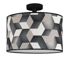 BRITOP LIGHTING Deckenleuchte »ESPACIO«, Lampenschirm aus laminierter Tapete, Baldachin aus Metall, Passende LM E27 / exklusive, Made in Europe