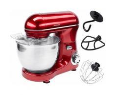 Hanseatic Küchenmaschine 649893 mit praktischem Zubehör und stufenloser Geschwindigkeitsreglung, 600 W, 4 l Schüssel