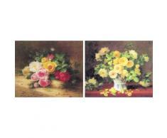 DELAVITA Bild »BURES / Blumen in Vase / Rosenstrauch«