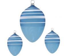 Thüringer Glasdesign Osterei »Ringel« (Set, 3 Stück), mundgeblasen, handdekoriert