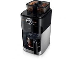 Philips Kaffeemaschine mit Mahlwerk Grind & Brew HD7769/00, doppeltes Bohnenfach, edelstahl/schwarz
