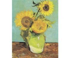 DELAVITA Leinwandbild »V.Van GOGH, Drei Sonnenblumen in einer Vase«, (1 Stück)