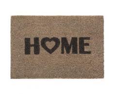 Fußmatte »Kokos Home Heart«, Andiamo, rechteckig, Höhe 15 mm, Schmutzfangmatte, Kokosmatte, mit Spruch, In- und Outdoor geeignet