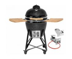 JUSTUS Gasgrill »Black J'Egg Duo XL«, BxTxH: 122x72,5x118 cm, Keramikgrill