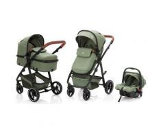 Fillikid Kombi-Kinderwagen »Panther, forest green/melange«, mit Babyschale Kinderwagen