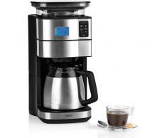 BEEM Kaffeemaschine mit Mahlwerk Fresh-Aroma-Perfect II - Thermo, 1,25l Kaffeekanne, Permanentfilter