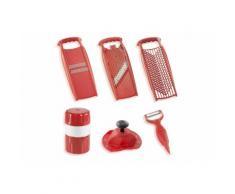 Börner Küchenreibe »Reiben-Set Spezial«, Kunststoff, 3 Reiben, Saftpresse und Schäler