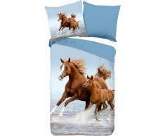 Kinderbettwäsche »Free«, good morning, mit Pferden