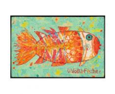 Fußmatte »Funky Fish«, wash+dry by Kleen-Tex, rechteckig, Höhe 7 mm, Fussabstreifer, Fussabtreter, Schmutzfangläufer, Schmutzfangmatte, Schmutzfangteppich, Schmutzmatte, Türmatte, Türvorleger, In- und Outdoor geeignet, waschbar