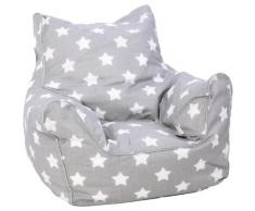Knorrtoys® Sitzsack »Grey White Stars«, für Kinder Made in Europe