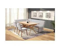 Premium collection by Home affaire Eckbankgruppe »London«, (4-tlg), Eckbank mit Wellenunterfederung im Sitz, langer Schenkel Breite 240 cm, Tisch ausziehbar, Breite 160-210 cm