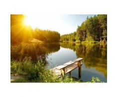 Fototapete »Summer Forest Lake«, glatt