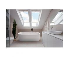 HOME DELUXE Whirlpool-Badewanne »Bola Plus«, (2-tlg), B/T/H: 170 / 80 / 58 cm, freistehend