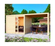 Karibu Gartenhaus »Qubic 1«, BxT: 484x246 cm, (Set)