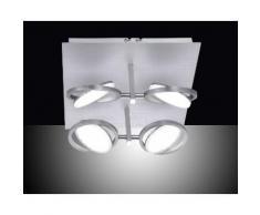 Paul Neuhaus LED Deckenleuchte »Q - ORBIT«, LED Deckenleuchte, Smart Home, CCT, FB, dimmbar, Quadrat