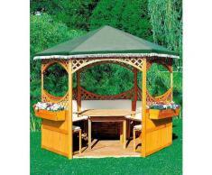 promadino Holzpavillon »Palma«, (Set), BxT: 308x308 cm, inkl. Brüstung