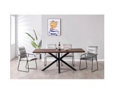 my home Essgruppe »Marla«, (Set, 5-tlg., Essgruppe 5-tlg), Tischbreite 120 cm, geeignet für kleine Räume