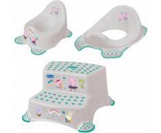 keeeper Töpfchen »Peppa Pig«, (Set, 3-tlg), Kinderpflege-Set - Töpfchen, Toilettensitz und Tritthocker Made in Europe