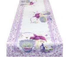 Delindo Lifestyle Tischläufer »Lavendel TÖPFCHEN« (1-tlg), Strukturgewebe, bedruckt