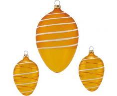 Thüringer Glasdesign Osterei »Spirale« (Set, 3 Stück), mundgeblasen, handdekoriert
