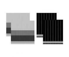 DDDDD Geschirrtuch »Jules«, (Set, 4-tlg., Combi-Set: bestehend aus 2x Küchentuch + 2x Geschirrtuch)