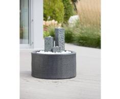 Ubbink Gartenbrunnen »Modena/Wicker«, 36 cm Breite, Wasserbecken BxT: 68x68 cm, (Set), mit Beckenumrandung und LED-Beleuchtung