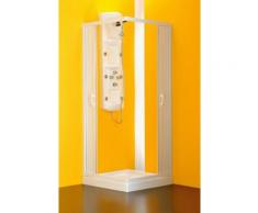 Eckdusche, Kunststoff, extra großer Einstieg, BxT: 60 x 80 cm
