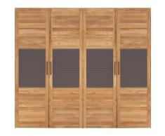 Premium collection by Home affaire Drehtürenschrank »Chamara« aus massivem Eichenholz, in unterschiedlichen Schrankbreiten erhältlich, 218 cm