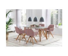 SalesFever Essgruppe, (Set, 5-tlg), bestehend aus 4 modernen Polsterstühlen und einem 160 cm breitem Tisch