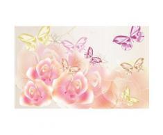 Consalnet Fototapete »Schmetterlinge Blumen«, glatt, Motiv