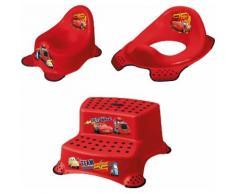 keeeper Töpfchen »Cars, kirschrot«, (Set), Kinderpflege-Set - Töpfchen, Toilettensitz und Tritthocker Made in Europe